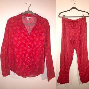 Victoria's Secret rose print pajama sleep set
